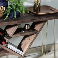 Ouseburn Hairpin Leg Console Table With Storage